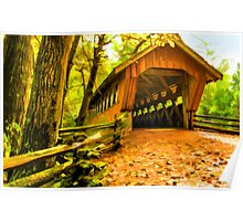 Covered Bridge,Little Hope Wisconsin #2 Poster