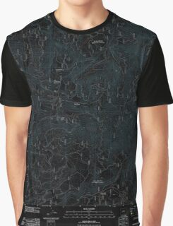 USGS Topo Map Oregon Groundhog Mountain 20110810 TM Inverted Graphic T-Shirt