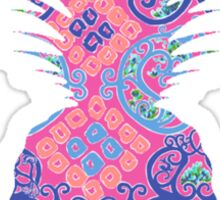 lilly pineapple Sticker