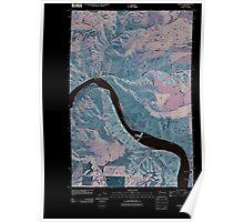 USGS Topo Map Washington State WA Almota 20110406 TM Inverted Poster
