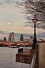 London cityscape from the South Bank by Jasna