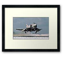Phantom FGR.2 XV466/E taking-off at Stanley Framed Print