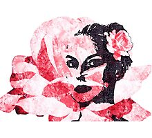 Rose in her hair Photographic Print