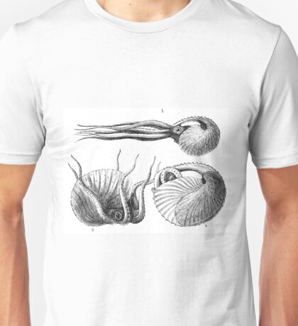 Vintage Natural History Mollusca Illustration Unisex T-Shirt