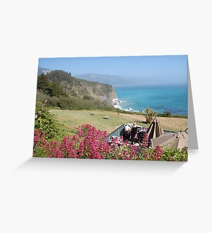 Pacific Coast Sea View from restaurant Greeting Card