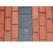 Sidewalk Blocks Photographic Print