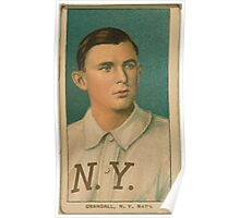 Benjamin K Edwards Collection Doc Crandall New York Giants baseball card portrait Poster