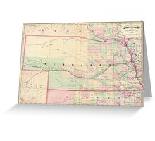 Vintage Map of Nebraska (1874) Greeting Card