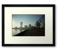 Milwaukee a city with a Harbor Framed Print