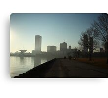 Milwaukee a city with a Harbor Canvas Print