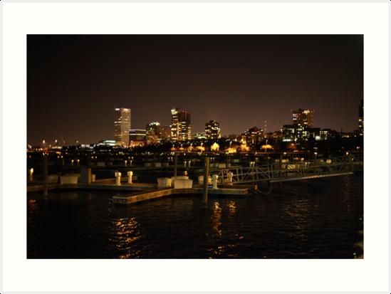 Milwaukee Night Skyline by Thomas Murphy