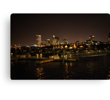 Milwaukee Night Skyline Canvas Print