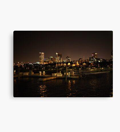 Milwaukee Night Skyline Canvas Print