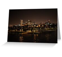 Milwaukee Night Skyline Greeting Card