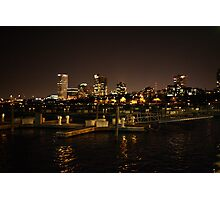 Milwaukee Night Skyline Photographic Print