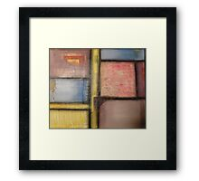 Pastel Blocks Framed Print