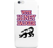 Vote Honey Badger iPhone Case/Skin