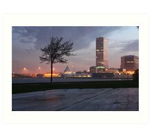 Milwaukee Night Cityscape Art Print