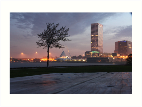 Milwaukee Night Cityscape by Thomas Murphy