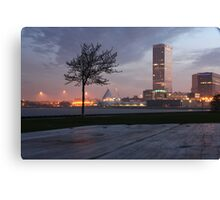 Milwaukee Night Cityscape Canvas Print