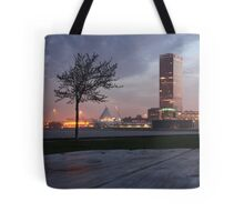 Milwaukee Night Cityscape Tote Bag