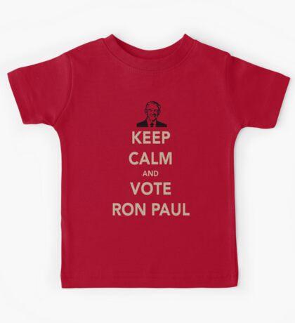 KEEP CALM AND VOTE RON PAUL Kids Tee