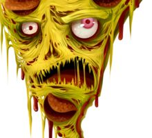 _zombie pizza Sticker