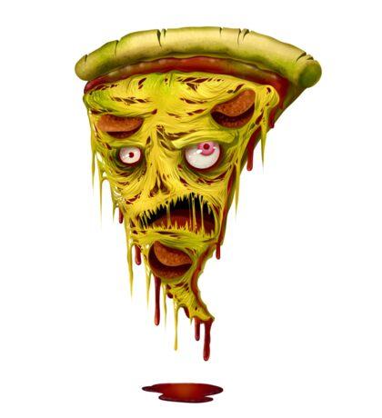 _zombie pizza Sticker