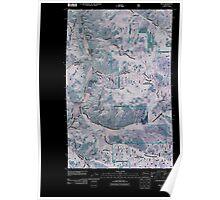 USGS Topo Map Washington State WA Malo 20110505 TM Inverted Poster