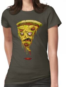 _zombie pizza Womens Fitted T-Shirt