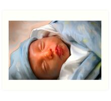 Isaac The Precious Baby Boy Art Print