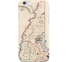 Vintage Map of New Hampshire (1819) iPhone Case/Skin