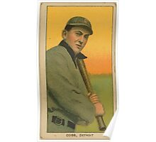Benjamin K Edwards Collection Ty Cobb Detroit Tigers baseball card portrait 004 Poster