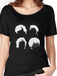 Doctor Who+Sherlock+LoTR+Harry Potter FOR DARK COLOURS Women's Relaxed Fit T-Shirt