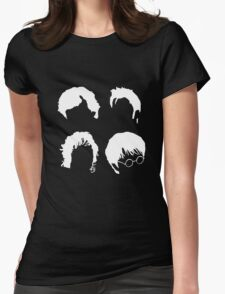 Doctor Who+Sherlock+LoTR+Harry Potter FOR DARK COLOURS Womens Fitted T-Shirt
