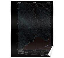 USGS Topo Map Washington State WA Knappton 20110914 TM Inverted Poster