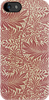 William Morris Floral Pattern in Red by Heidi Hermes