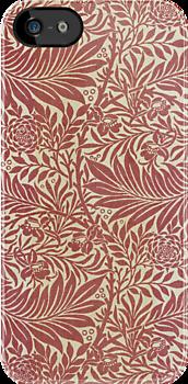William Morris Floral Pattern in Red by Heidi Hermes