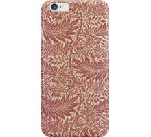 William Morris Floral Pattern in Red iPhone Case/Skin