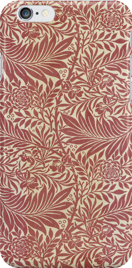 William Morris Floral Pattern in Red by cinn