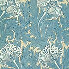 William Morris Tulip furnishing fabric in Blue by Heidi Hermes