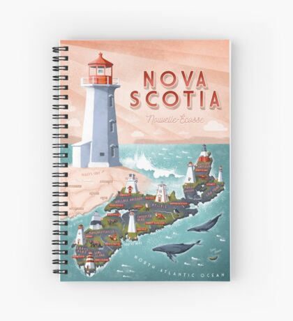 NOVA SCOTIA Spiral Notebook