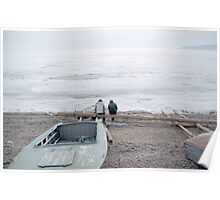 sitting at the edge of lake baikal Poster