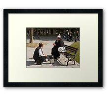 People in Istanbul - The Turkish tea seller and the Uzbek lady Framed Print
