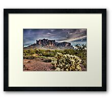 An Evening at the Superstitions  Framed Print