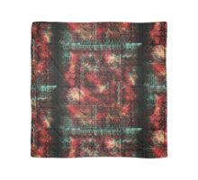 Modern Abstract Grunge Tribal Red Black Turquoise Scarf
