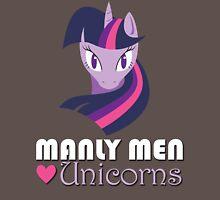 Manly Men Love Unicorns Unisex T-Shirt