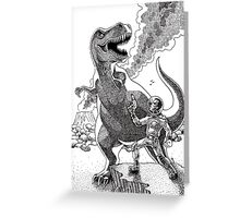 HOW I MET YOUR MOTHER (Spaceman Vs Dinosaur) Greeting Card