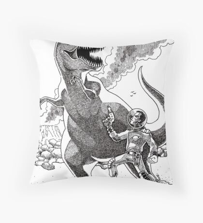 HOW I MET YOUR MOTHER (Spaceman Vs Dinosaur) Throw Pillow