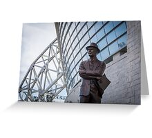 Tom Landry Statue at Cowboys Stadium Greeting Card